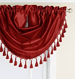 RT Designers Collection Jasmine Swag Valance, Rust