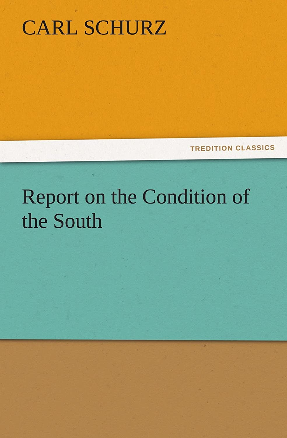 Mon premier blog page 3 report on the condition of the south tredition classics carl schurz fandeluxe Gallery