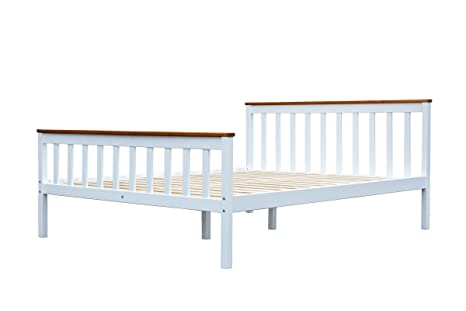Ambientehome 90800 Bett, Holz, weiß, Double, 200 x 180 x 68 cm