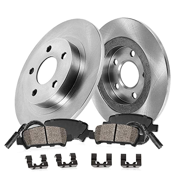 Rotors w//Ceramic Pads OE Brakes 2000 01 02 03 04 05 2006 X5 Front + Rear
