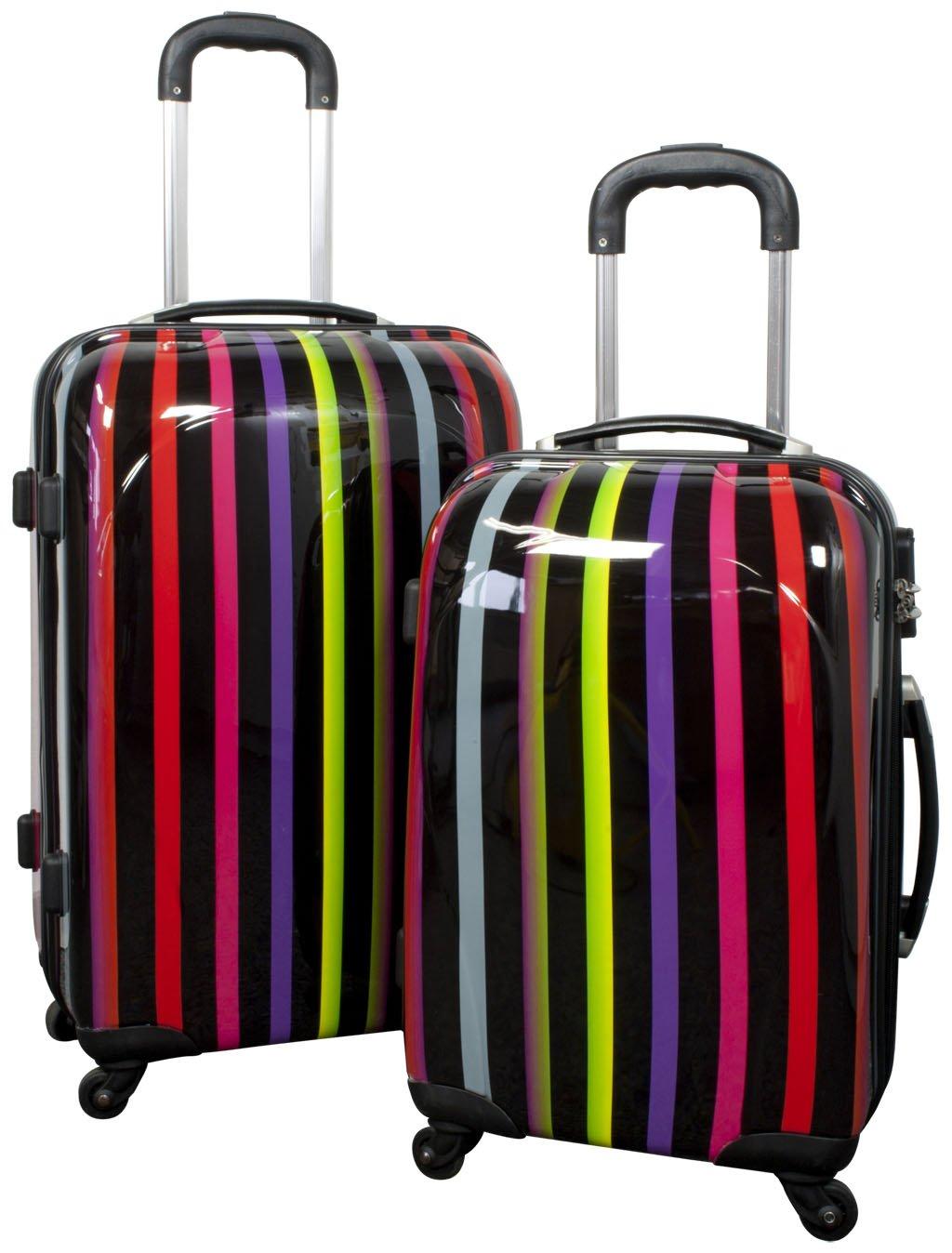 Trolley-Koffer-Set 2-tlg. – Hartschale – in verschiedenen Farben und Mustern (Asmara) günstig