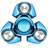 MECULE Fidget Spinner EDC Toy Premium Hand Spinner Durable ABS Original Design Tri Spinner Relieves Stress and Anxiety, Blue