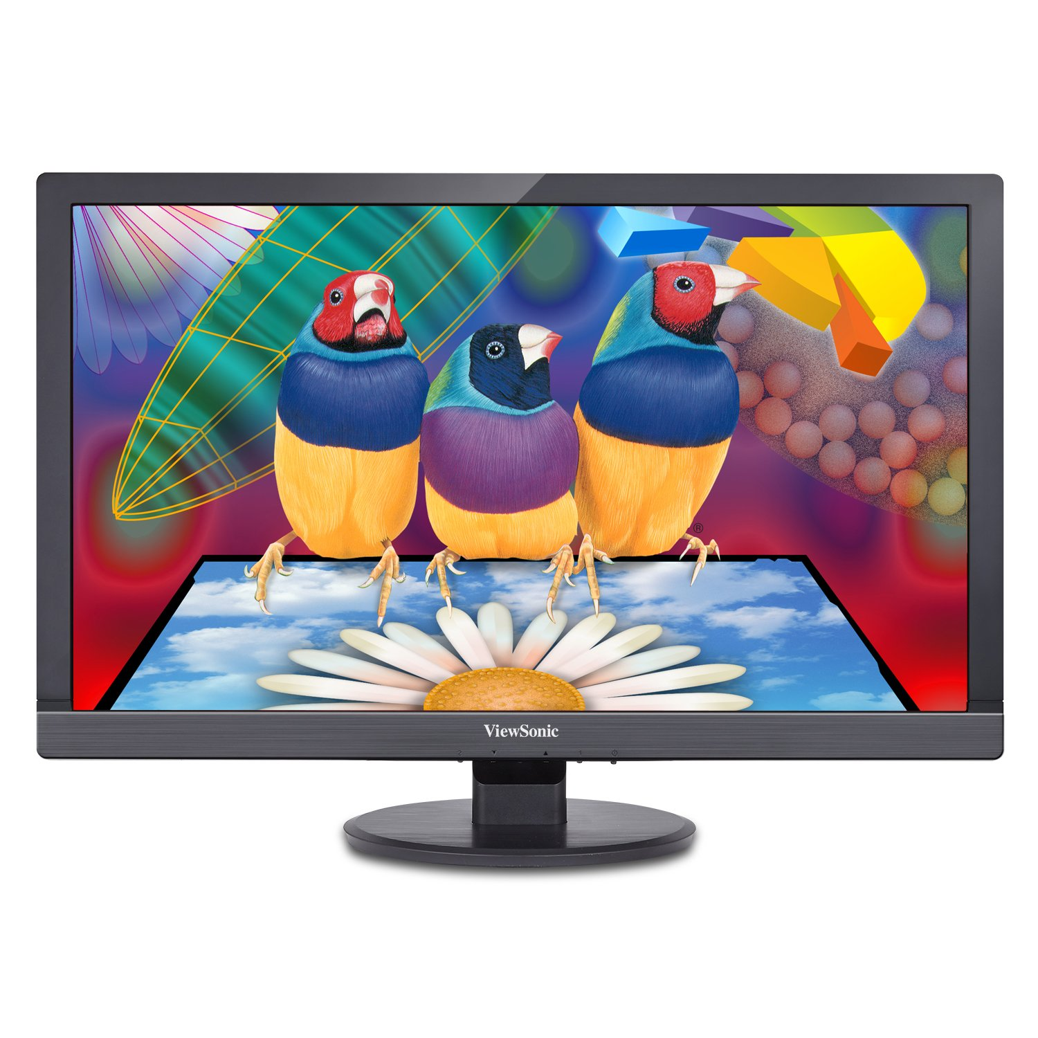 ViewSonic VA2455sm 24-Inch SuperClear Pro LED-Lit Monitor (Full HD, True 8-bit, Flicker-Free, ViewMode)