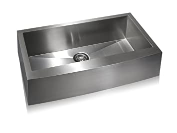 Lenova SS-AP-S36 Apron Stainless Steel Single Bowl Undermount Kitchen Sink, Large