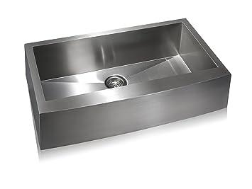 Lenova SS-AP-S36 Apron Stainless Steel Single Bowl Undermount Kitchen Sink, Large