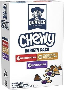 Quaker Chewy Granola Bars Variety Pack (58-Ct.)