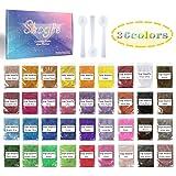 Mica Powder-Soap dye Soap Colorant for Bath Bomb Dye Colorant-Soap Making dye,36 Colors Soap Making Kit-Hand Soap Making Supplies-Resin Dye - Mica Powder Organic for Soap Molds-Makeup Dye