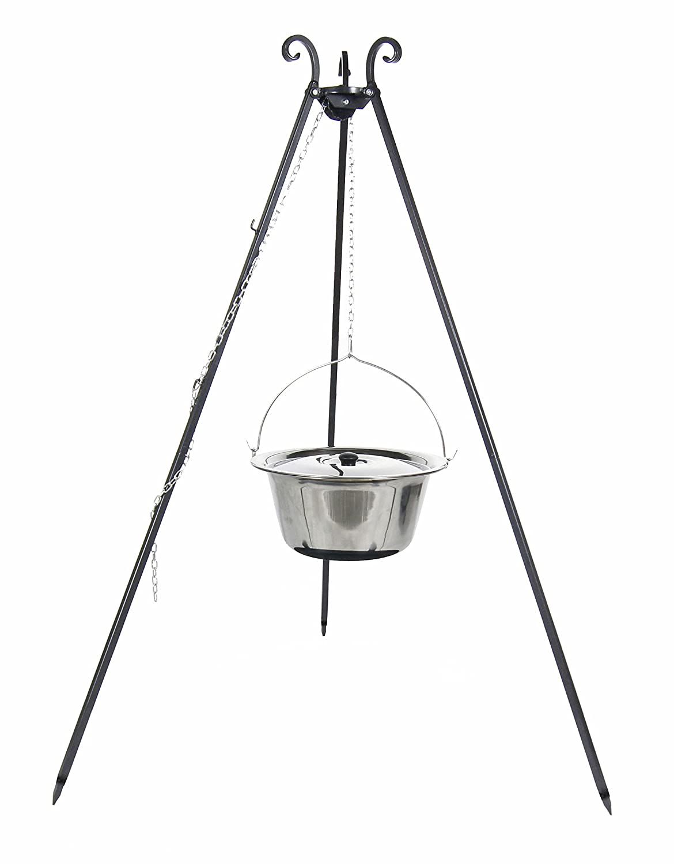 Belladecora® Gulaschkessel / Feuertopf 8L aus INOX inkl. Dreibein / Schwenkgrill online bestellen