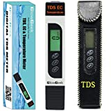GlowGeek Professional Quality TDS, EC & Temperature Meter, Water Quality Test Meter,0-9990ppm.Accurate and Reliable Water Test Meter. Ideal for Drinking Water, Aquariums - White