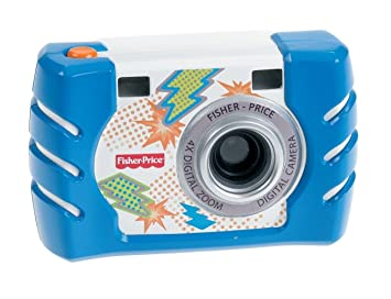 Fisher Price Kids Tough Digital Camera Slim Blue (W1459) by Mattel