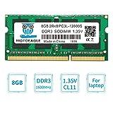 Motoeagle 8GB DDR3L PC3-12800 PC3L-12800S DDR3 1600MHz (PC3L 12800S) SO Dimm Low Voltage Notebook Laptop RAM Memory(8GB, 12800SL Green) (Color: 12800SL Green, Tamaño: 8GB)