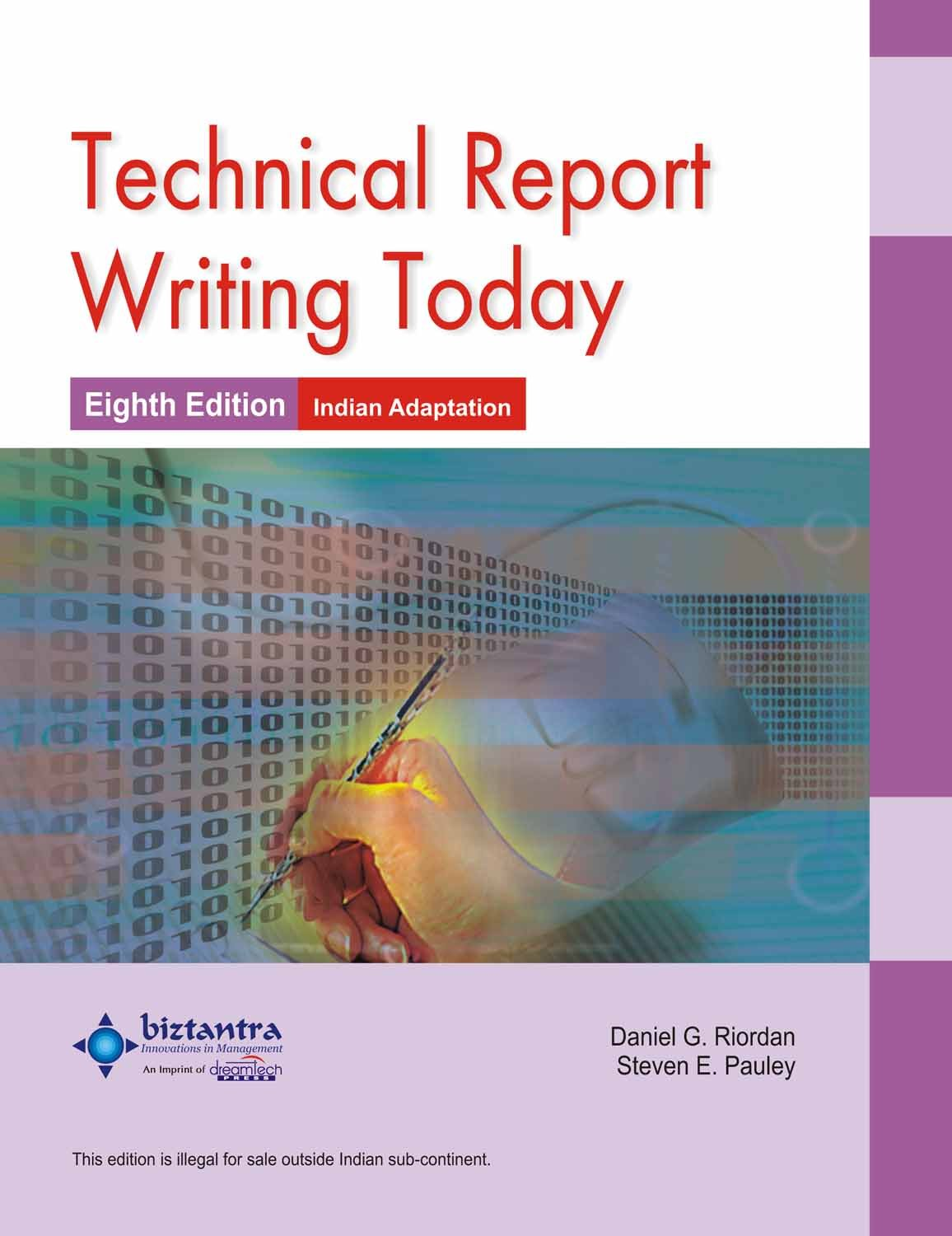 Amazon.in: Buy TECHNICAL REPORT WRITING TODAY (8th Ed. ) BIZTANTRA ...