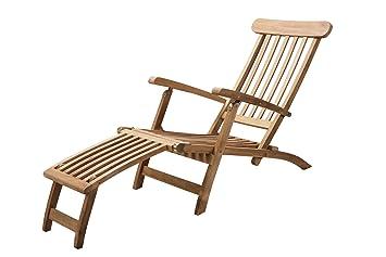 Chaise longue aspen en teck teck de grade a for Chaise longue teck