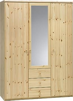 Steens 29910819 Kleiderschrank Axel 200 x 145 x 62 cm Kiefer teilmassiv, natur lackiert