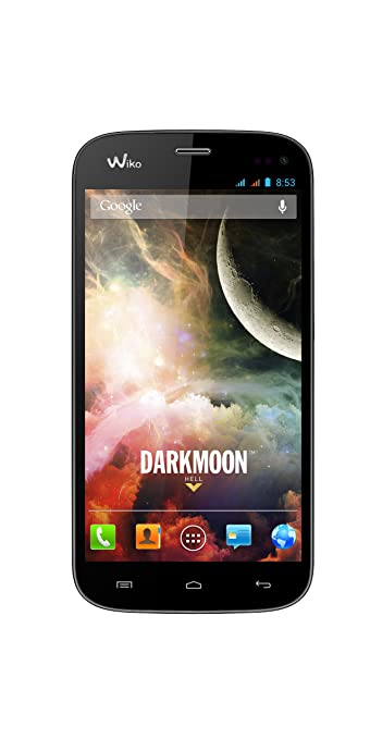 Wiko Darkmoon Smartphone débloqué (Ecran 4,7 pouces - 4 Go - Double SIM - Android 4.2.2 Jelly Bean) Noir