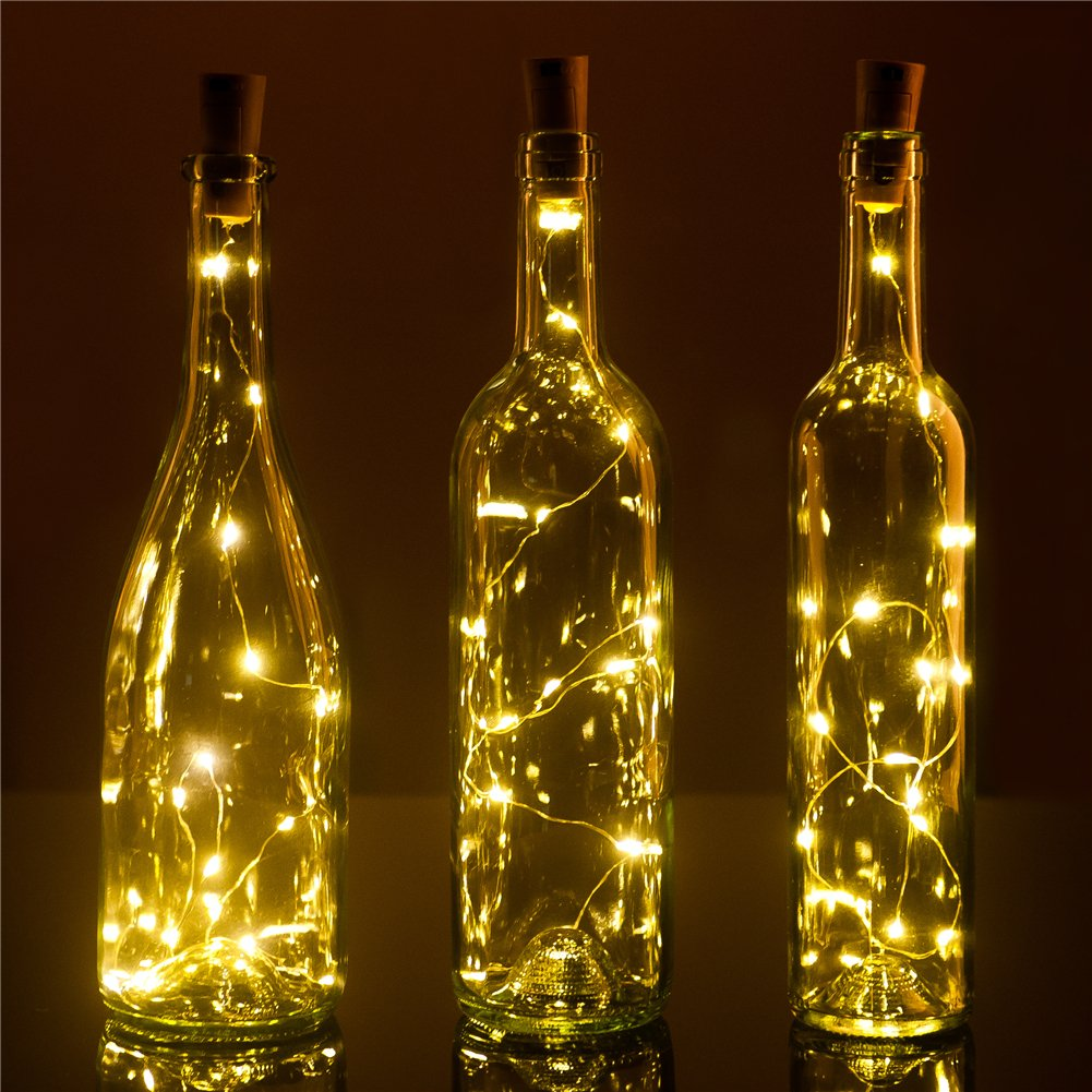 Set Of 3 Wine Bottle Cork Lights 32inch 80cm 15 Led