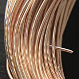 Embroiderymaterial Stiff Gijai French Gimp Wire for Embroidery & Jewelry Making 100gm (Rose Gold, 1.25MM) (Color: Rose Gold, Tamaño: 1.25MM)
