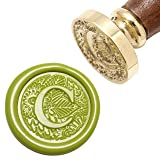 Letter C Wax Seal Stamp, Yoption Brass Head Botanical Alphabet Initial Sealing Stamp with Wooden Handle (Color: C)
