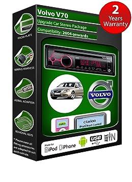 Volvo V70 de lecteur CD et stéréo de voiture radio Clarion jeu USB pour iPod/iPhone/Android