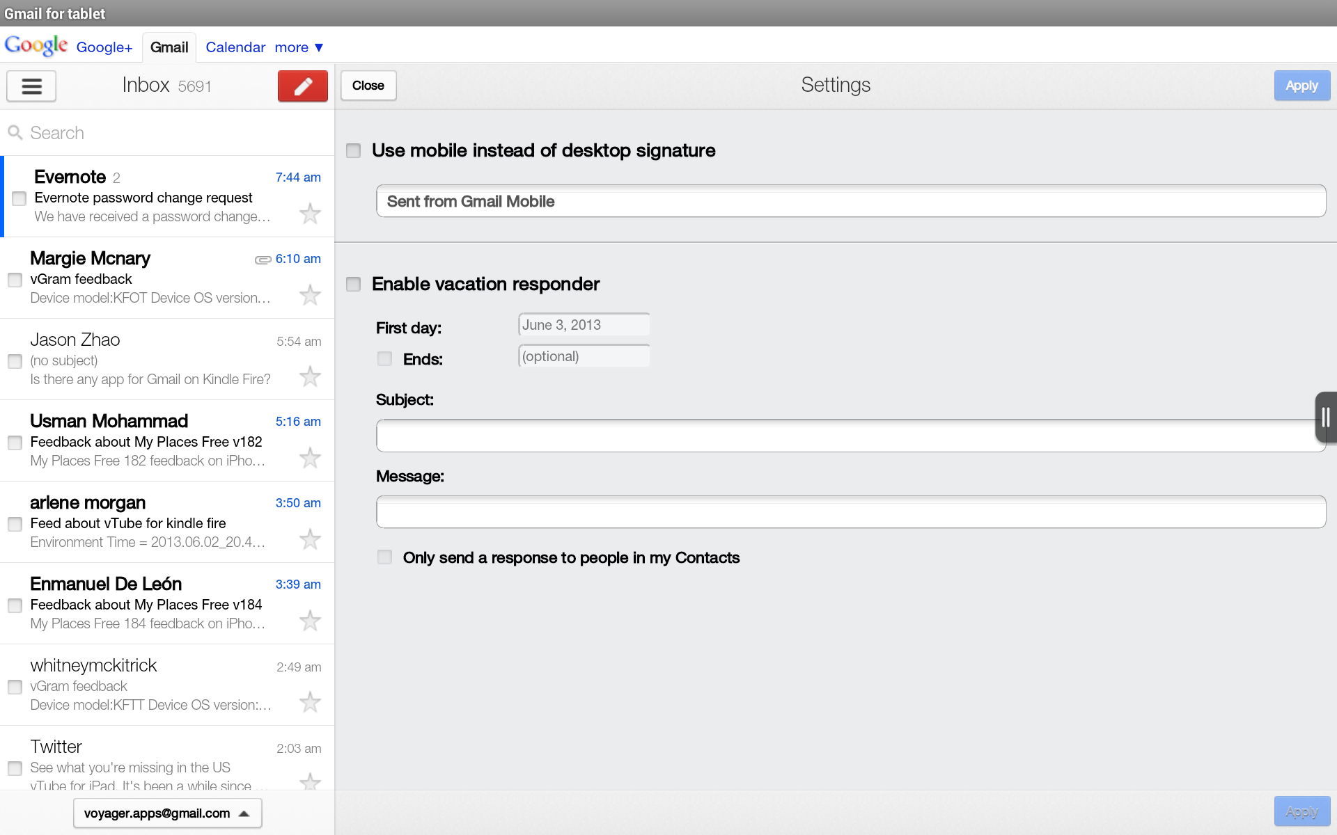 how to add contacts to gmail on android tablet