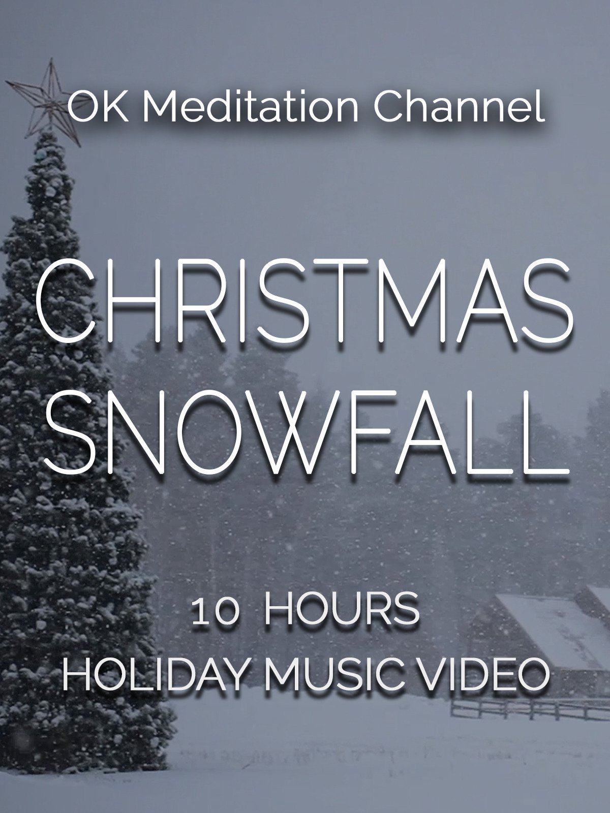 Christmas snowfall, 10 hours holiday music video