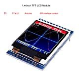 MakerFocus TFT LCD Screen 1.44 inches TFT LCD Module, 128x128 SPI, Picture Graphic Color Screen, 51 STM32 Arduino Routines to Replace 5110 OLED 5V for Arduino (Color: TFT LCD Screen)