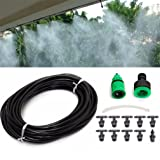 UNKE Durable Garden Water Mister Air Misting Cooling Irrigation System Sprinkler 10m (Color: As Picture, Tamaño: As description)