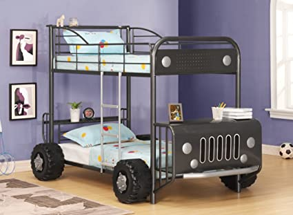 Dark Grey Bunk Beds Bus Unusual Kids Beds Open Army Bus