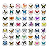 100 Pieces Creative Fashion Steel Thumb Tacks Push Pins Decorative Different Patterns for Photos Wall, Maps, Bulletin Board or Corkboards (Butterfly) (Color: Butterfly)