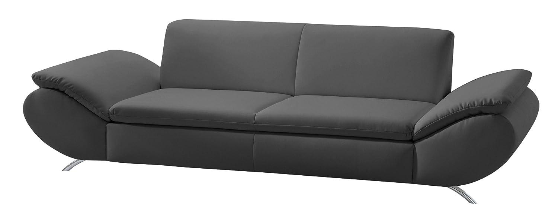 Max Winzer 2870-3000-2070140 2,5 Sitzer Sofa Madita, Kunstleder, schwarz