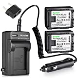 Kastar BP808 Battery (2-Pack) and Charger Kit for Canon BP-807, BP-808, BP-809 and Canon HFM400 HF100 M300 S100 S200 FS36 FS37 HF200 HFS11 HF100 HF20 HG21 FS406 Cameras (Tamaño: 2 batteries + 1 charger)