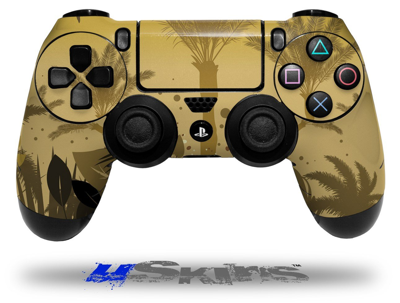 Summer Palm Trees - Decal Style Wrap Skin fits Sony PS4 Dualshock 4 Controller - CONTROLLER NOT INCLUDED