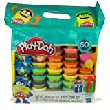 Play-Doh Modeling Compound 50- Value Pack Case of Colors, Non-Toxic, Assorted Colors, 1-Ounce Cans, Ages 2 and up (50 Cans - 1 Pack) (Tamaño: 50 Cans)