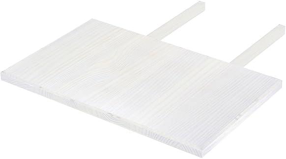 Brasilmöbel, Ripiano per il tavolo della sala da pranzo, inserimento a clip, 50 x 80 cm, in legno massello di pino, colore bianco