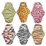 Love My Antibacterial Bamboo fiber Mama Cloth/ Menstrual Pads/ Reusable/ Panty Liners - 6pcs pack(LM1) (Color: LM1, Tamaño: 2.55*12)
