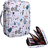 220 Colored Pencil Case Multi Pencil Holder Large Capacity Pen Organizer Bag for Watercolor Pencils, Markers,Gel Pens, Highlighters, Brushes, Great Gift for Students Painter Writers (Forest) (Color: Forest)