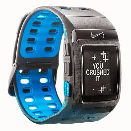 Nike SportWatch alimenté Par TomTom- GPS Capteur non inclus (Anthracite/bleu fluo Par Nike)
