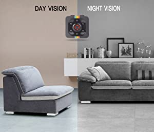 NFITtech Mini Hidden Camera HD 720P/1080P Spy Nanny Cam Body Camera Video Recorder Homme Surveillance with Night Vision Motion Detection for Indoor and Outdoor (Color: Color)