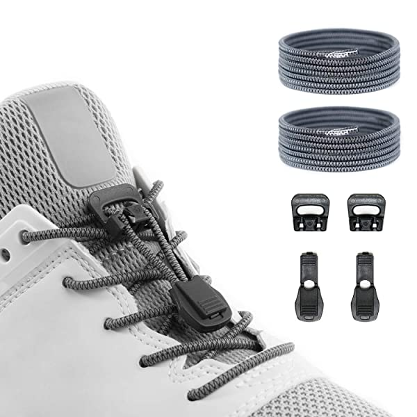 Xpand No Tie Shoelaces System with Elastic Laces One Size Fits All Adult Black
