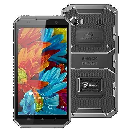KenxinDa W9 IP68 4G étanche Téléphone mobile antichoc portable Android 5.1 MTK6753 Octa noyau 2 Go de RAM 16GB ROM 6.0Inch 1920 * 1080 13.0MP Smartphone