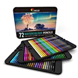 72 Watercolor Pencils Professional, Numbered, with a Brush and Metal Box - 72 Water Color Pencils for Adults and Adult Coloring Books - Watercolor Pencil for Kids, Colored Pencils, Art Set (Tamaño: 72 Colors)