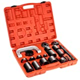 TURBO SII Universal 21PCS Ball Joint Service Tool Set Auto Car Repair Press Remover Removal Separator Installing Installer Install and Master Adapter C-Frame Kit,1 Year Warranty