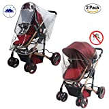 Baby Stroller Rain Cover and Mosquito Net Weather Shield,Yinuoday Universal Waterproof, Windproof Protection Baby Stroller Rain Cover Mosquito Net for Outdoor Indoor (Polishing Cover & Zipper) (Color: Polishing Cover & Zipper)