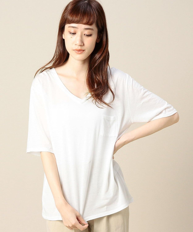 Amazon.co.jp: (ビューティーアンドユースユナイテッドアローズ) BEAUTY&YOUTH UNITED ARROWS BY コットンレーヨン ポケットVネックTシャツ 16172994782 01 White フリー: 服&ファッション小物通販
