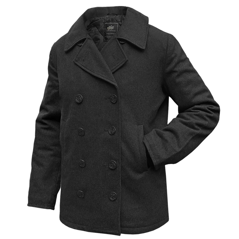 Alpha Industries Pea Coat USN Übergangsjacke Black kaufen