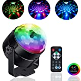 Sound Activated Party Lights,Disco Light Crystal Magic Rotating Ball with Multi-Color Disco Ball Lamps,3W RGB LED Stage Lighting for KTV,X'mas Party,Wedding Show,Club Pub DJ Lighting (Color: RGB 3W)