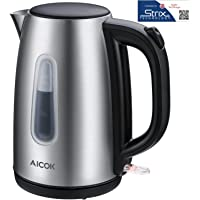 Aicok Stainless Steel 1.7 Liter Cordless Electric Tea Kettle (Silver)