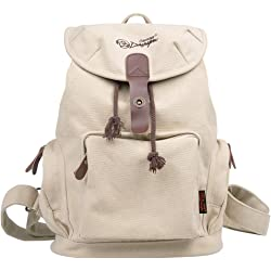Douguyan E00117 Womens Canvas Backpack - Beige
