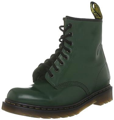 Dr Martens Broken In 1460, Boots mixte adulte - Vert - 44 EU