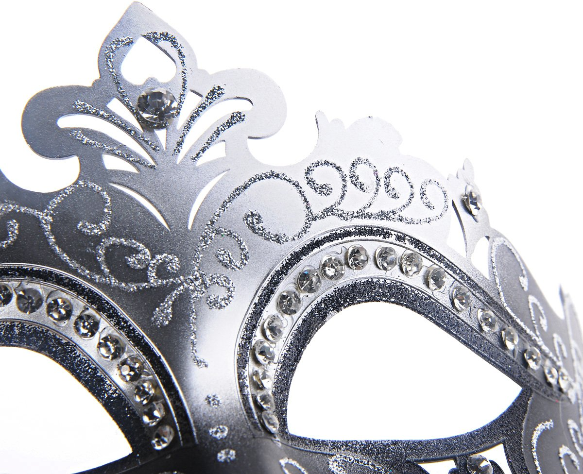 Coxeer Venetian Mask Halloween Mask Party Mask Vintage Masquerade Mask for Prom 5
